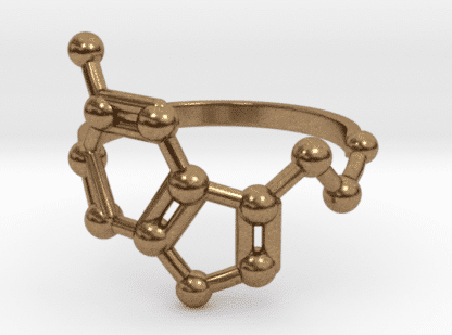 Serotonin ring raw brass