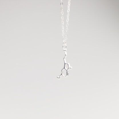Serotonin Molecule Necklace Silver 925 Hanging