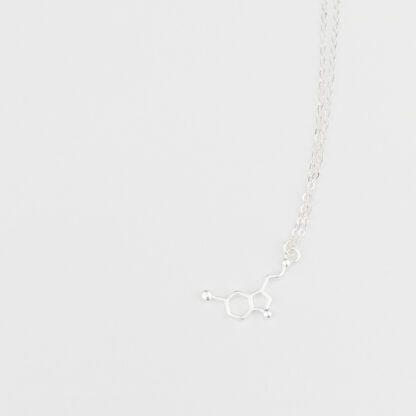 Serotonin Molecule Necklace Silver 925 Top Detail