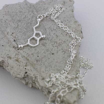Serotonin Molecule Necklace Small Concrete Detail