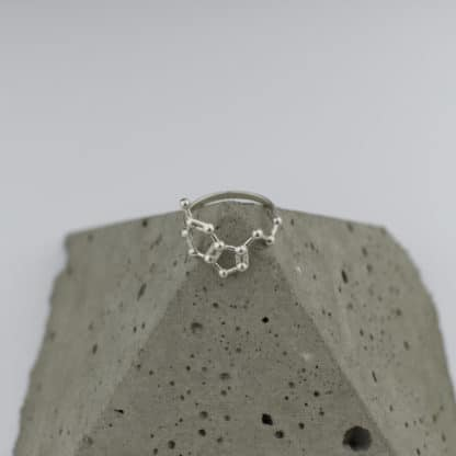 Serotonin Molecule Ring 3D Pyramid Top