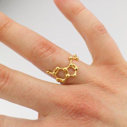 Serotonin Ring 18k Gold Hand Top