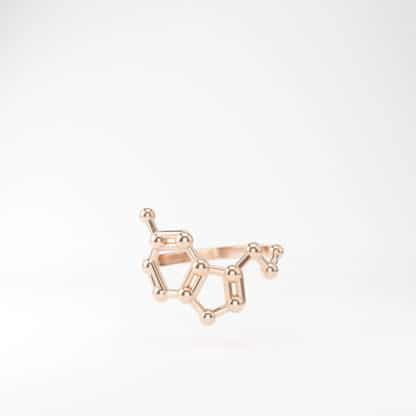 Serotonin Ring 3D Rose Gold 1