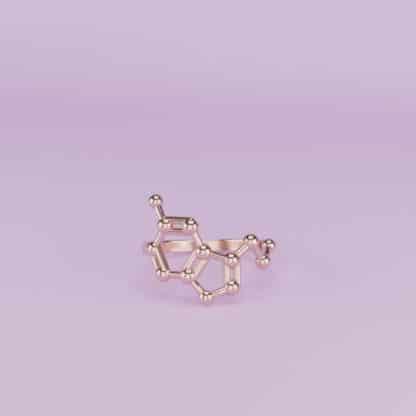 Serotonin Ring 3D Rose Gold