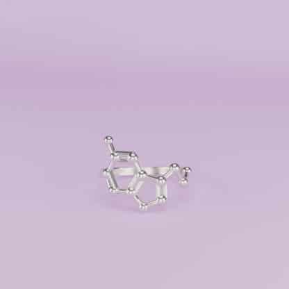 Serotonin Ring 3D Silver
