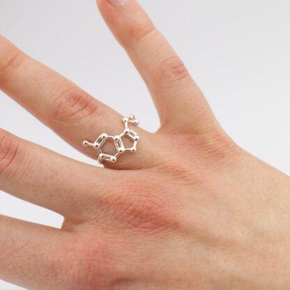 Serotonin Ring Sterling Silver Hand