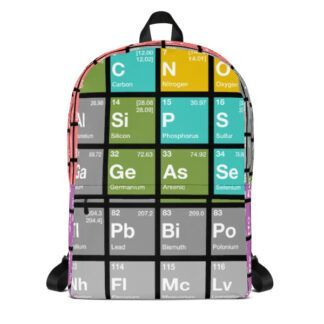Periodic Table of Elements Backpack Front