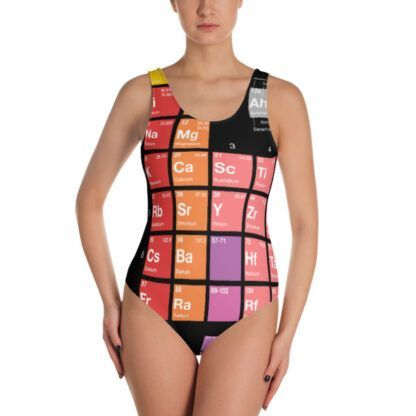 Periodic table of elements swimsuit front