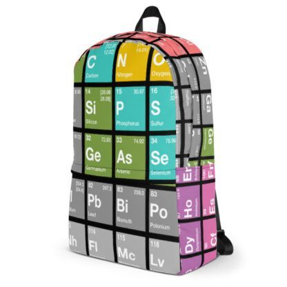 Periodic Table of Elements Backpack Side