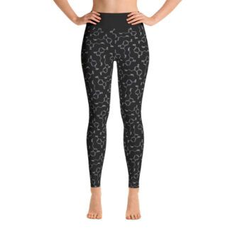 Serotonin molecule yoga leggings