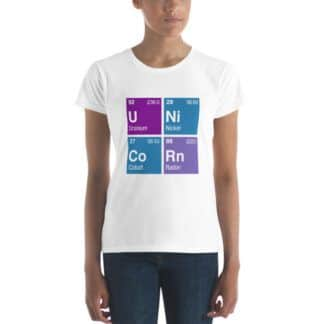 Unicorn periodic table t-shirt
