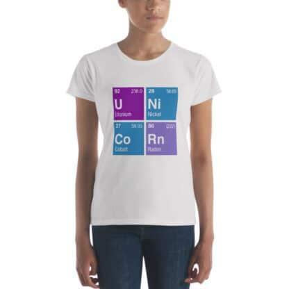 Unicorn periodic table t-shirt