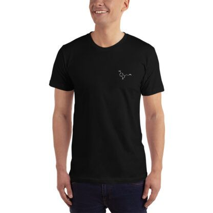 Serotonin Embroidered Molecule T-Shirt Black Model