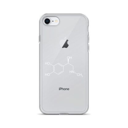 Adrenaline molecule iPhone case white