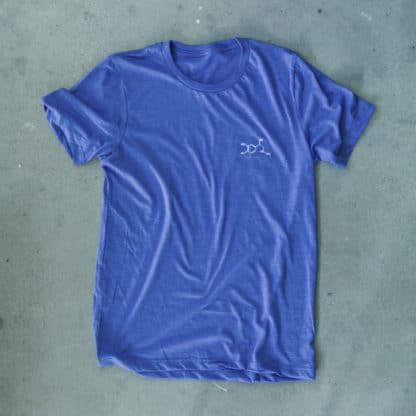 Adrenaline Molecule Embroidered T-Shirt Heather Blue