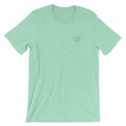 Embroidered Caffeine Molecule T-Shirt Mint
