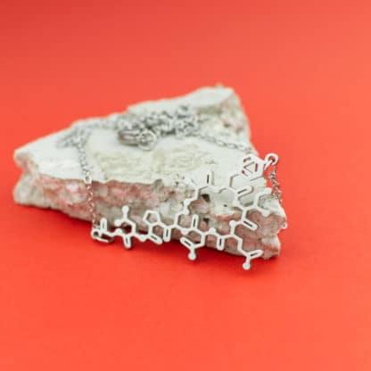 Oxytocin Molecule Necklace Detail