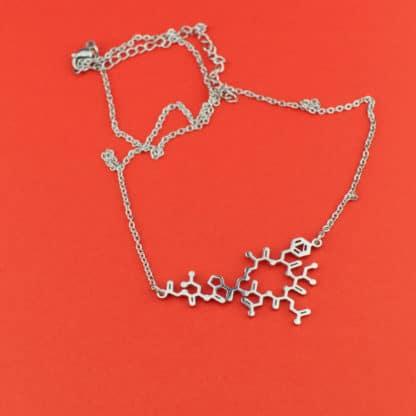 Oxytocin Molecule Necklace Silver