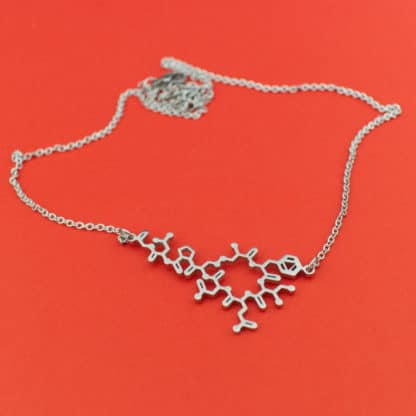 Oxytocin Molecule Necklace Stainless Steel