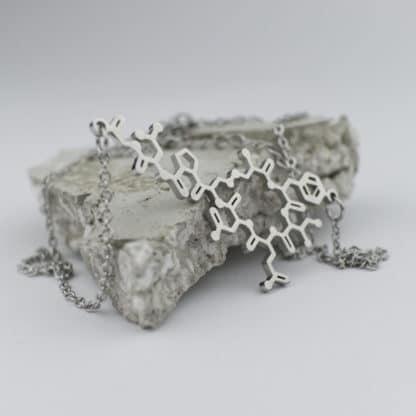 Oxytocin Molecule Necklace Stainless Steel Concrete 2