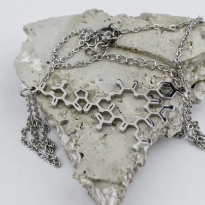 Oxytocin Molecule Necklace Stainless Steel Concrete