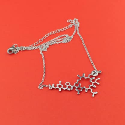 Oxytocin Molecule Necklace Stainless Steel Detail