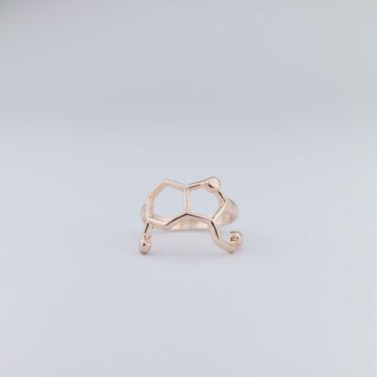 Serotonin molecule ring rosegold