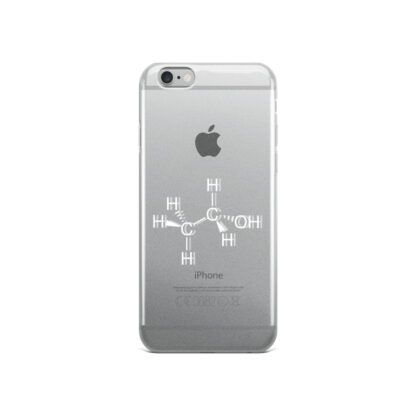 Ethanol intoxicated molecule iPhone case white