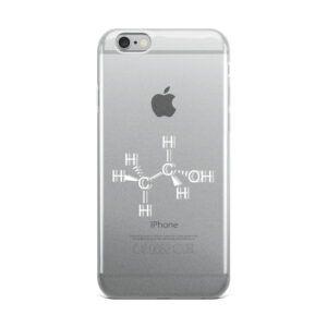 Ethanol intoxicated molecule iPhone case white