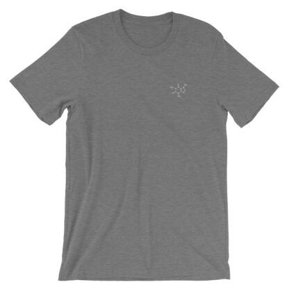 Caffeine molecule t-shirt embroidered grey
