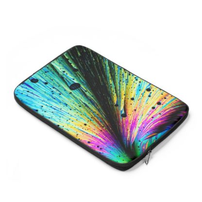 Dopamine crystals laptop sleeve side