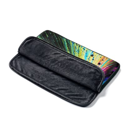 Dopamine crystals laptop sleeve open