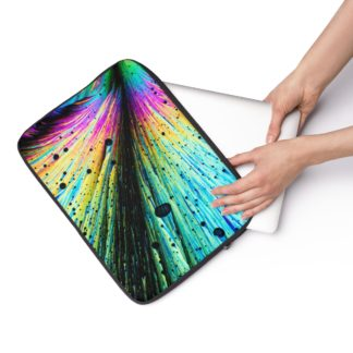 Dopamine crystals laptop sleeve hand