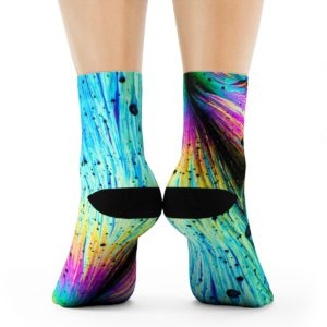 Dopamine crystals laptop socks
