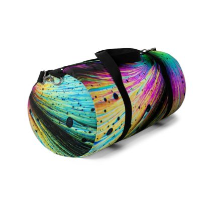 Dopamine crystals duffle bag front