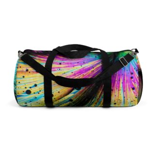 Dopamine crystals duffle bag side