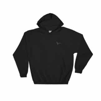 Serotonin molecule hoodie embroidered black