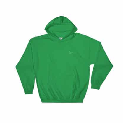 Serotonin molecule hoodie embroidered green