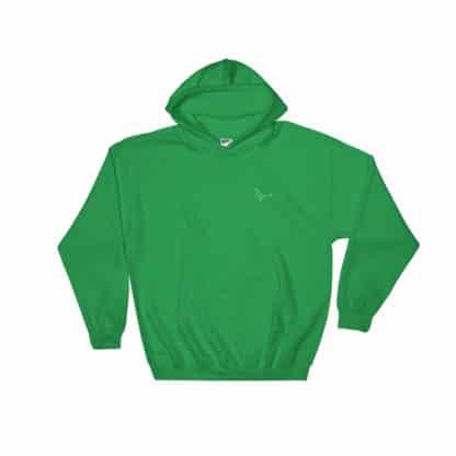 Serotonin molecule hoodie embroidered green