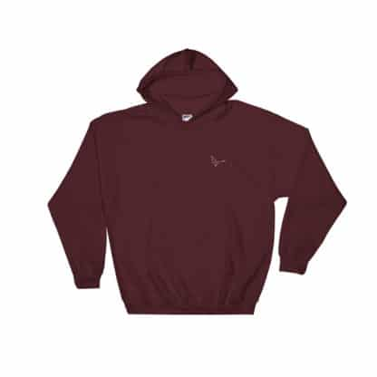 Serotonin molecule hoodie embroidered maroon