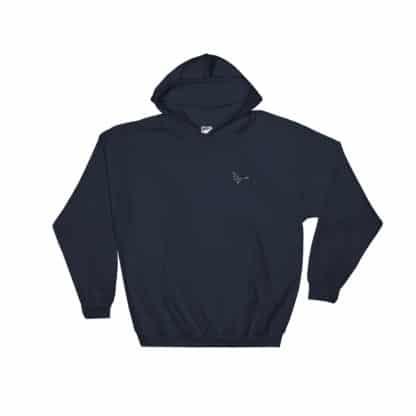Serotonin molecule hoodie embroidered navy