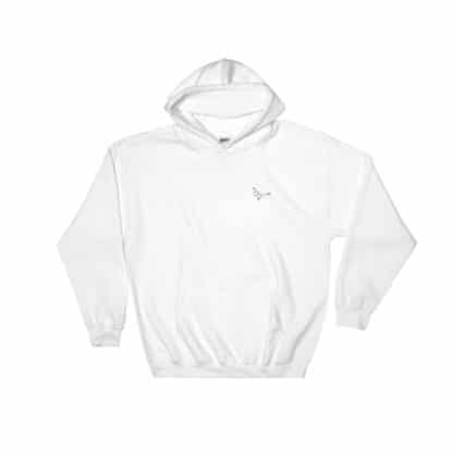 Serotonin molecule hoodie embroidered white