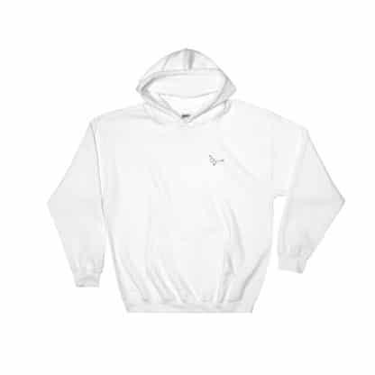 Serotonin molecule hoodie embroidered white