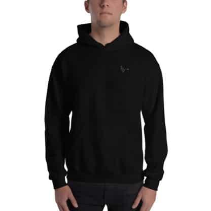 Serotonin molecule hooded sweatshirt embroidered black