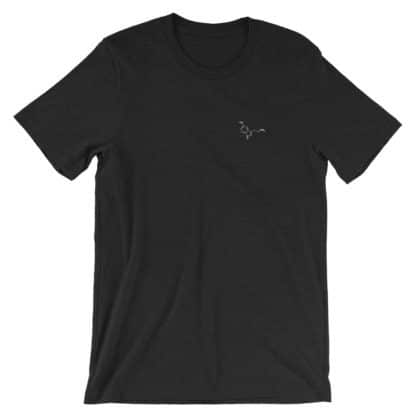 Serotonin molecule embroidered t-shirt dark grey heather