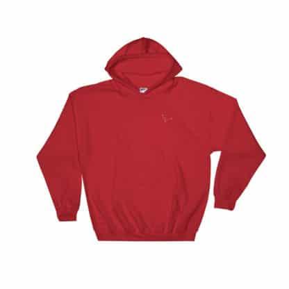 Serotonin molecule hoodie embroidered red