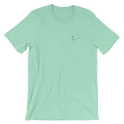 Serotonin molecule embroidered t-shirt mint
