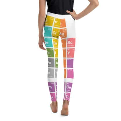 Periodic table leggings youth back
