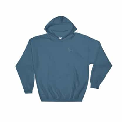 Serotonin molecule hoodie embroidered blue