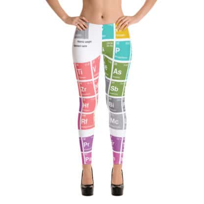 Periodic table leggings white front